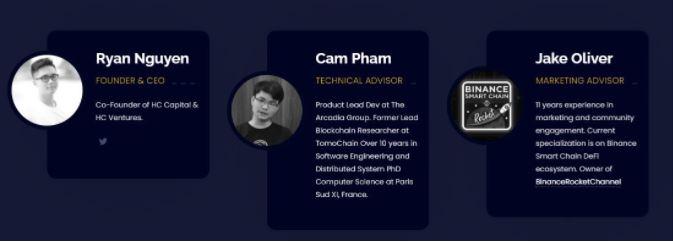 Đội ngũ phát triển và cố vấn dự án Lightening Cash