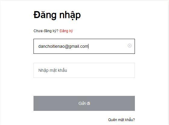 Nhập thông tin để đăng nhập