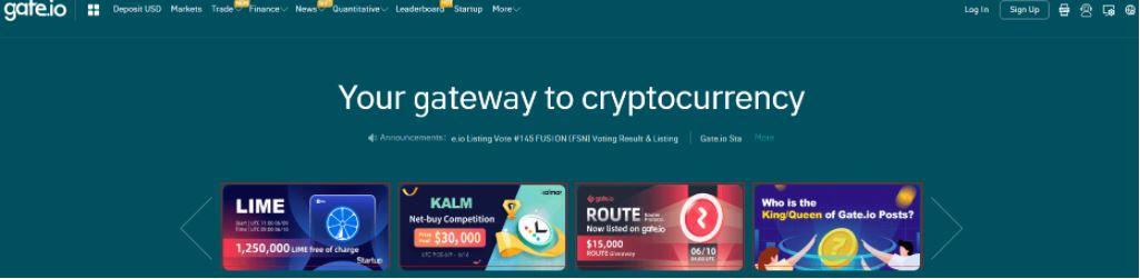 Đánh giá Gate.io - Giao diện Exchange