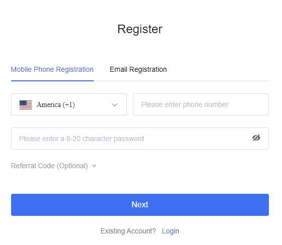 Quy trình đăng ký Bingbon