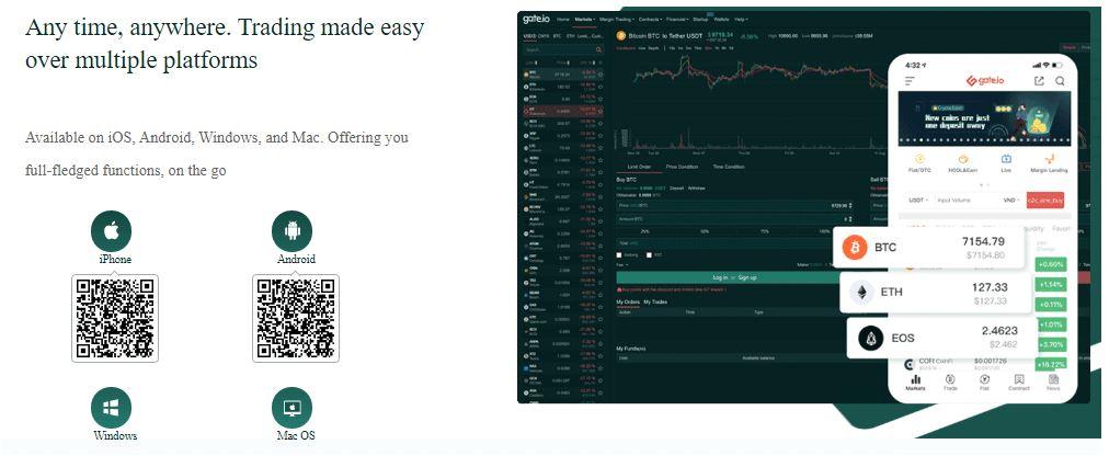 Đánh giá Gate.io Exchange - Khám phá Dịch vụ của Gate.io Mobile App