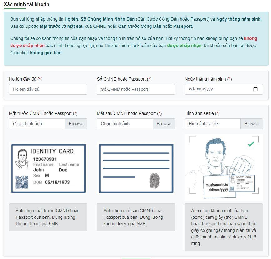 Nhập & Upload thông tin