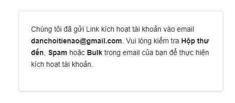 Thông báo xác thực Email sàn muabancoin.io