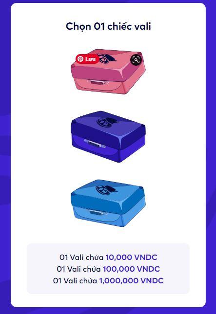 Chọn vali màu sắc để nhận thưởng