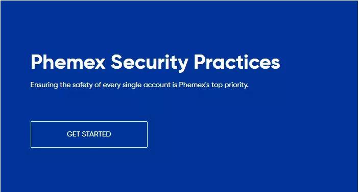 Đánh giá của Phemex - Các biện pháp bảo mật