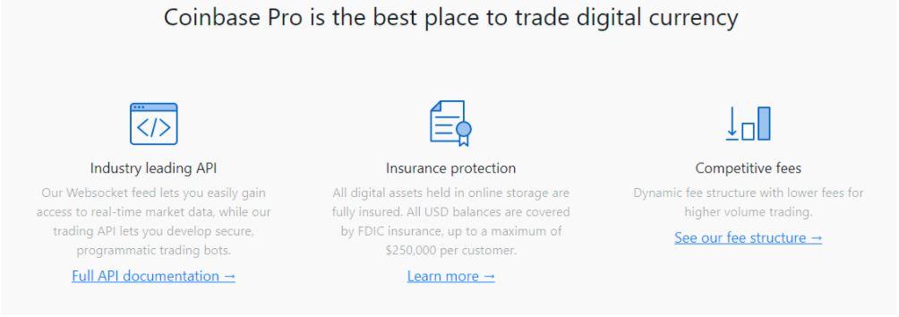 Coinbase Pro - nơi tốt nhất để giao dịch tiền kỹ thuật số