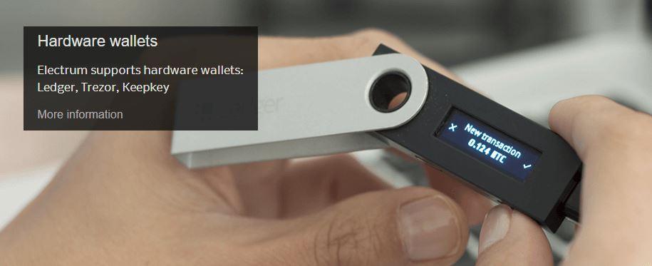 Ví Electrum hỗ trợ ví cứng
