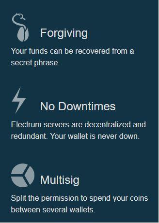 Lợi ích của việc sử dụng ví Bitcoin Electrum