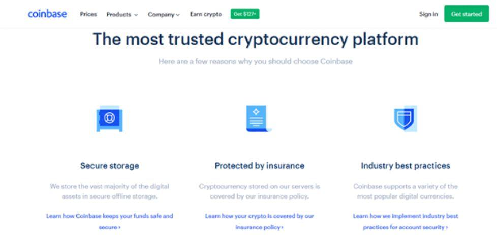 Nền tảng tiền điện tử coinbase