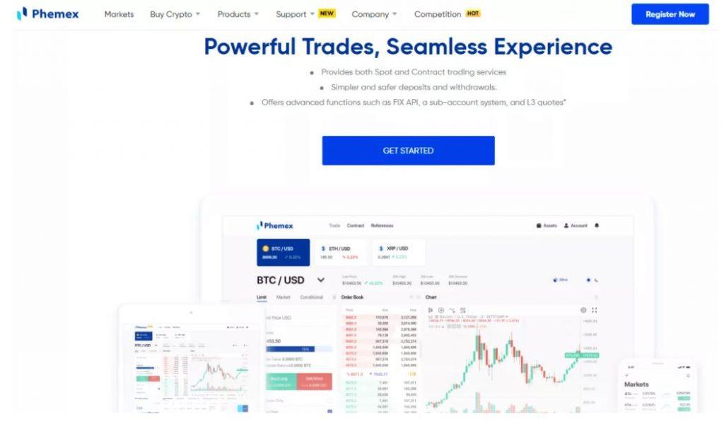 Đánh giá Phemex - Nền tảng giao dịch Phemex