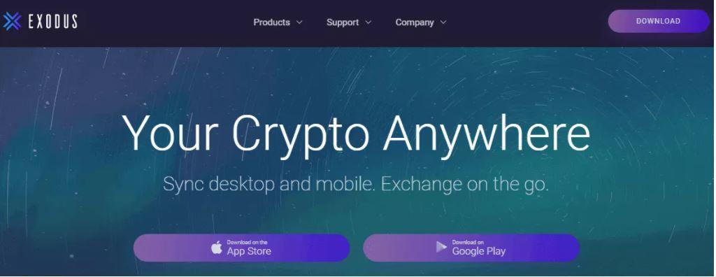 Tải xuống ứng dụng Exodus và tạo ví của riêng bạn