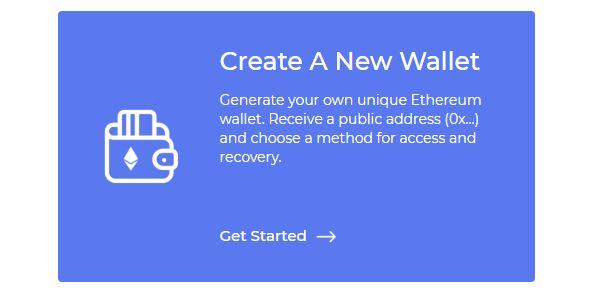 Tạo một ví mới tại MyEtherWallet