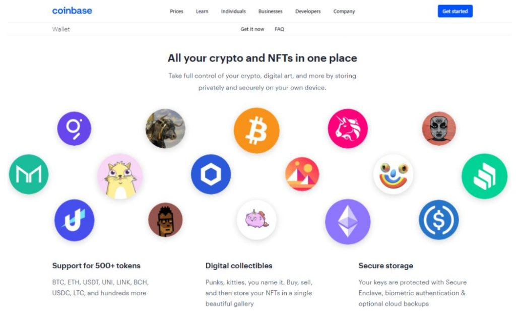 Tính năng của Ví Coinbase