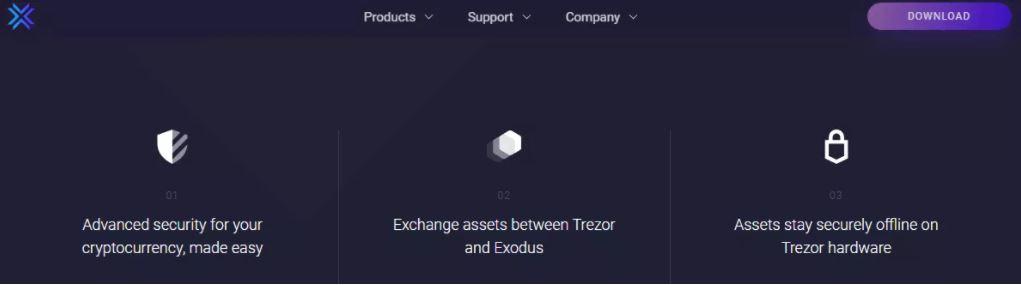 Tính năng của Ví Exodus