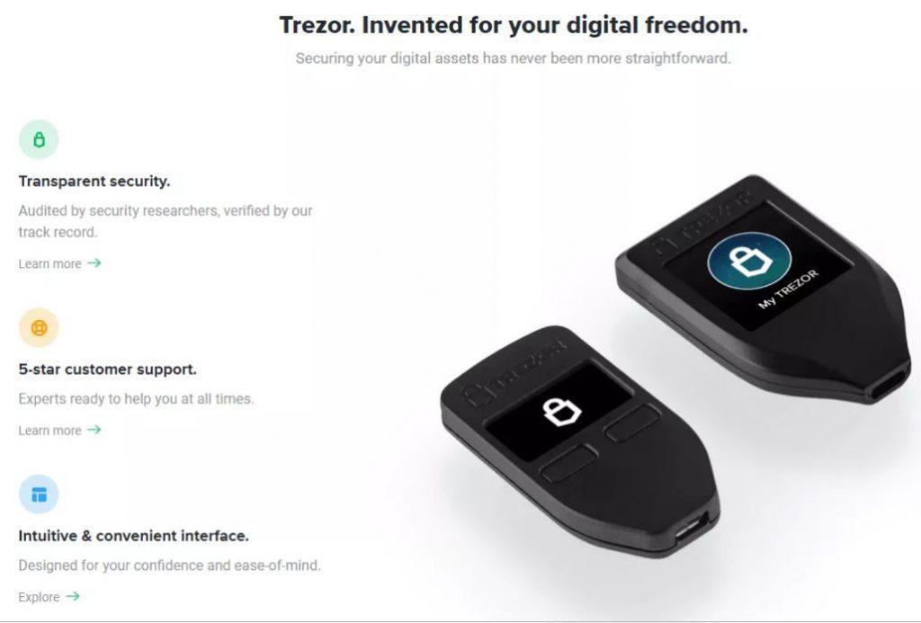 Các tính năng của Trezor Wallet