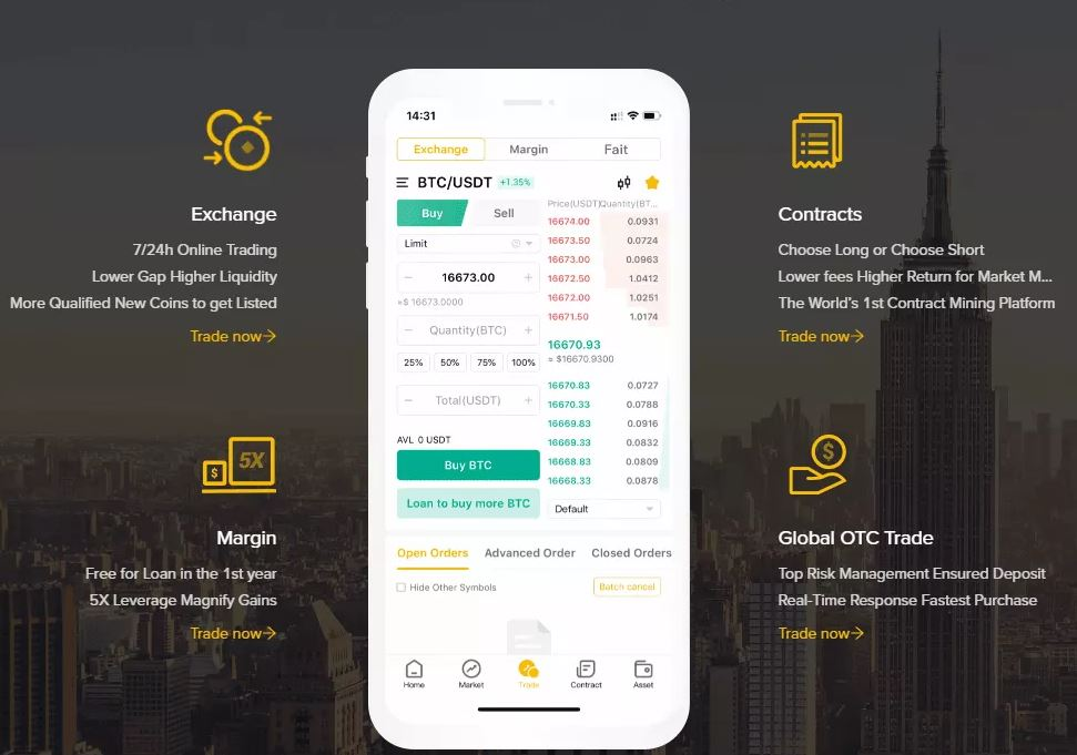 Ứng dụng CoinBene