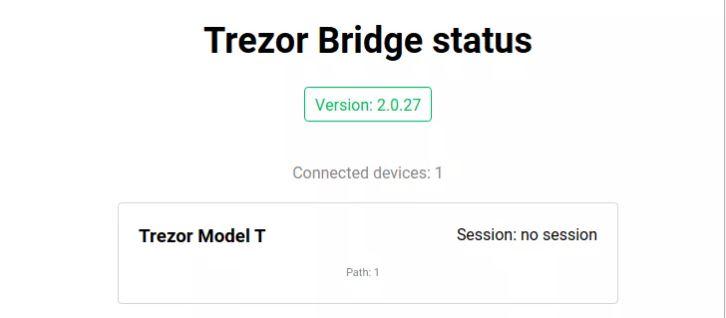 Ứng dụng phần mềm: Cầu Trezor