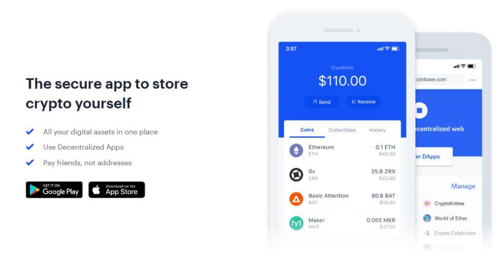 Ứng dụng ví Coinbase