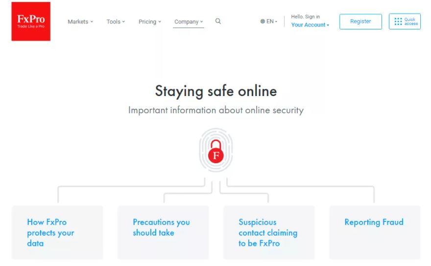 Các biện pháp bảo mật FxPro