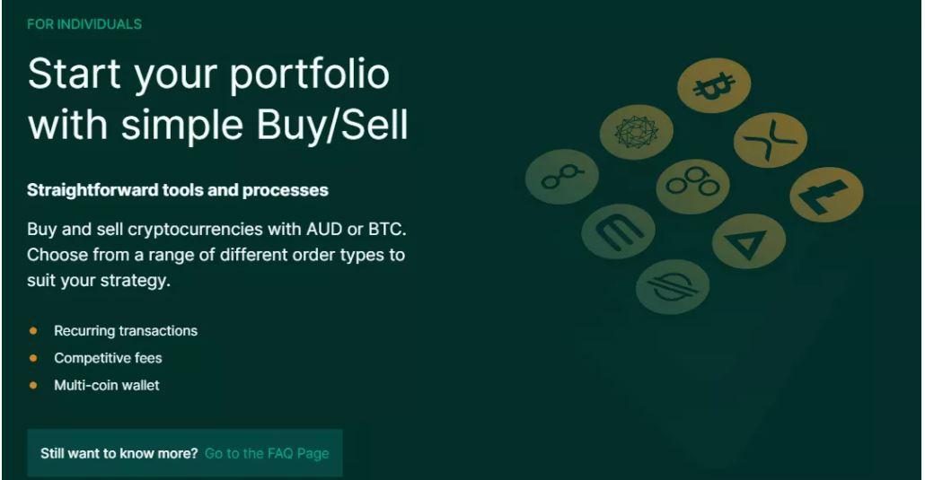 Bắt đầu mua hoặc bán tiền điện tử với thị trường BTC