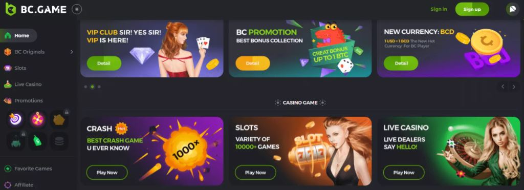 BC.Game - Nền tảng cờ bạc nguồn mở tốt nhất