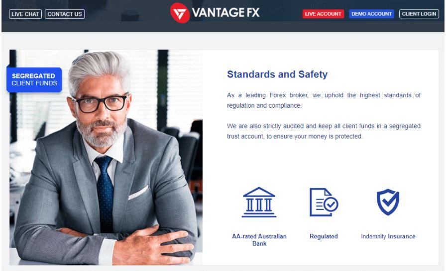 Các biện pháp bảo mật của Vantage FX