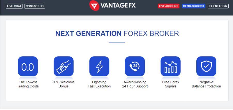 Các tính năng của Vantage FX