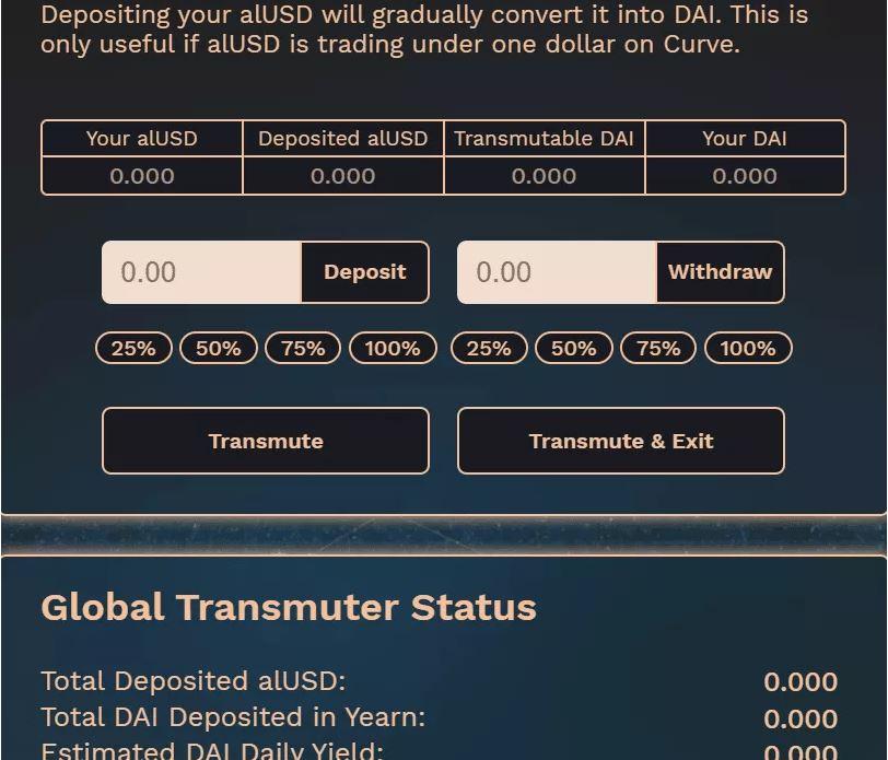 Cơ chế Transmuter alUSD cho DAI