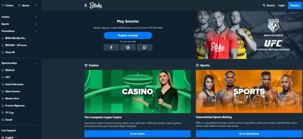 Stake casino - Một trong những Sòng bạc Ethereum tốt nhất