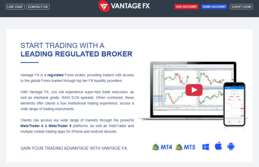 Công cụ giao dịch Vantage FX