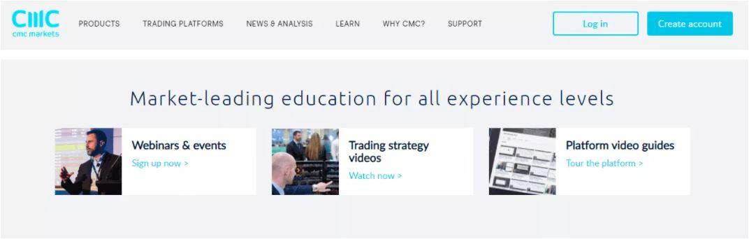 Đánh giá CMC Markets - Công cụ giáo dục