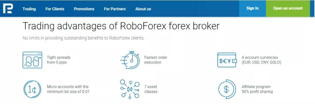 Đặc điểm của RoboForex
