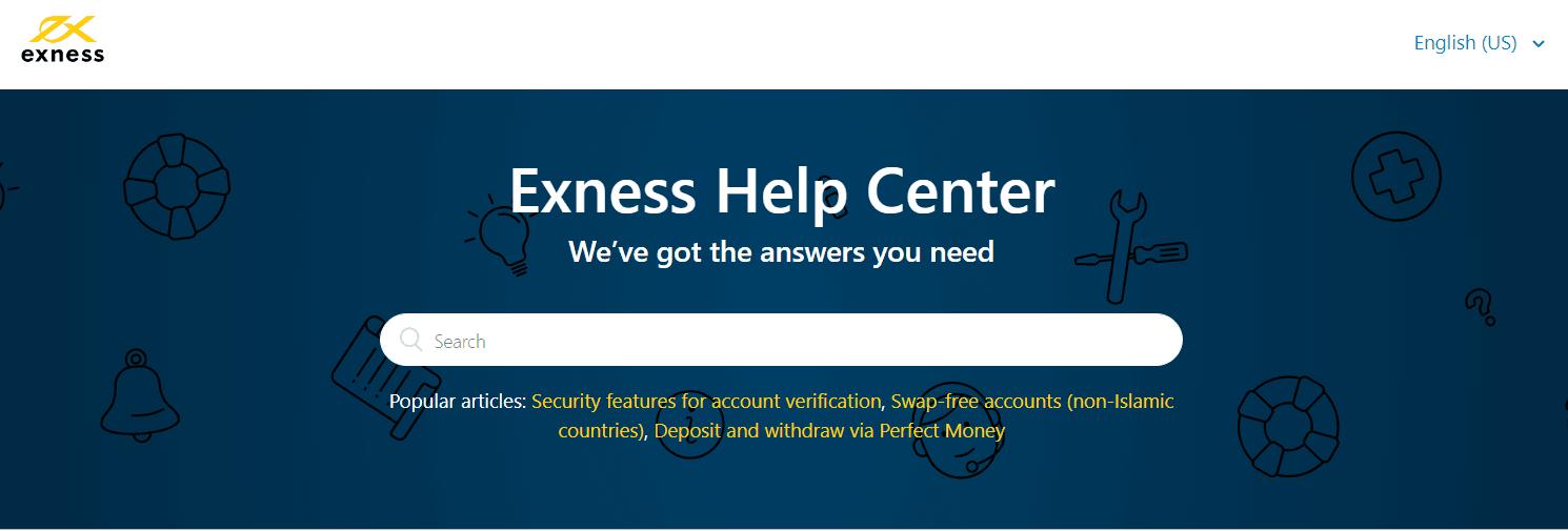Hỗ trợ khách hàng của Exness