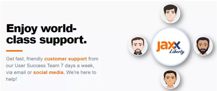 Hỗ trợ khách hàng của Jaxx Wallet