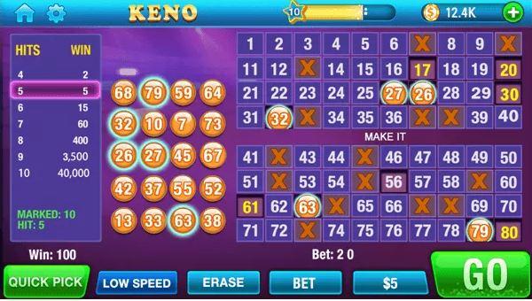Keno tiền điện tử