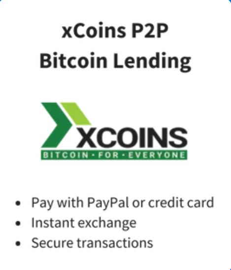 Mua Bitcoin bằng Paypal tại xCoins