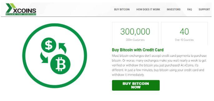 Mua Bitcoin bằng thẻ tín dụng tại xCoins.io