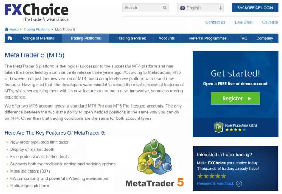 Nền tảng giao dịch MetaTrader 5 (MT5)