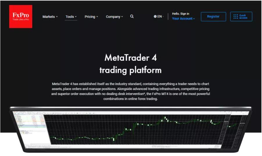 Nền tảng MetaTrader 4 hoặc MT4