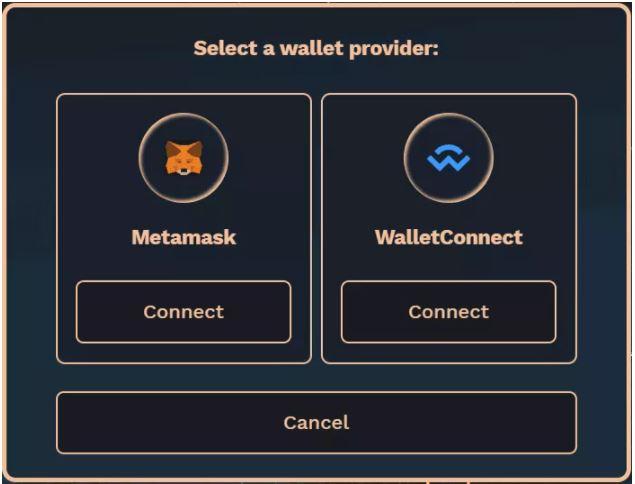 Chọn nhà cung cấp ví