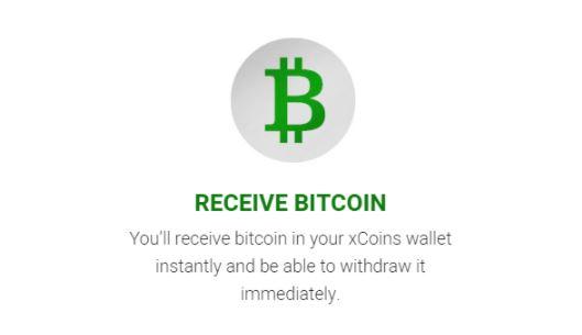 Nhận Bitcoin và chi tiêu từ ví xCoins