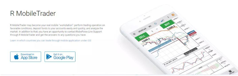 R Trader Platform trên thiết bị di động