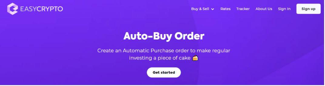 Lệnh mua tự động bằng tiền điện tử dễ dàng