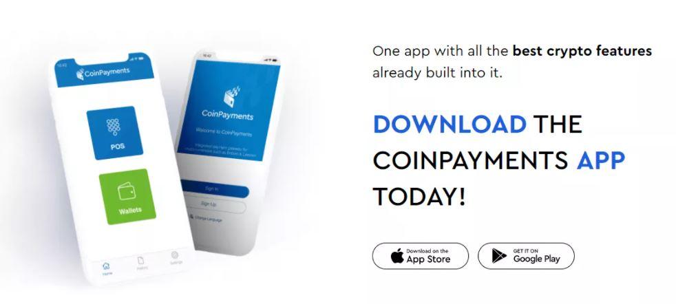 Ứng dụng di động CoinPayments