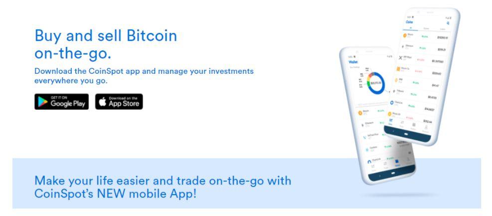 Ứng dụng di động CoinSpot