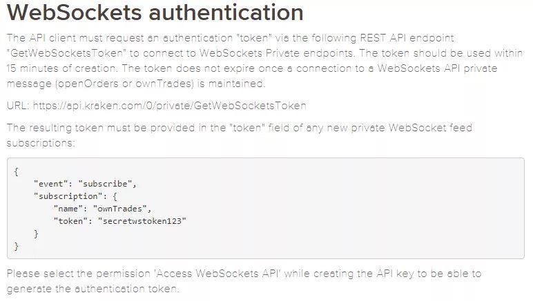 Đánh giá Kraken - API Websockets