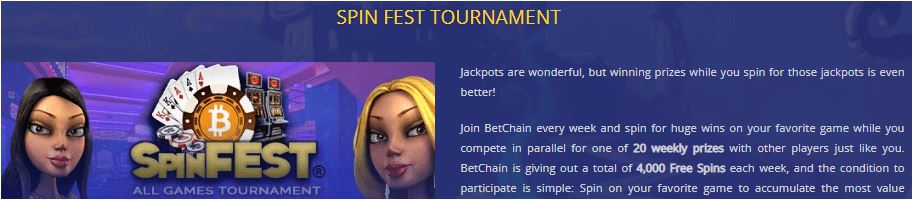 BetChain Spin Fest