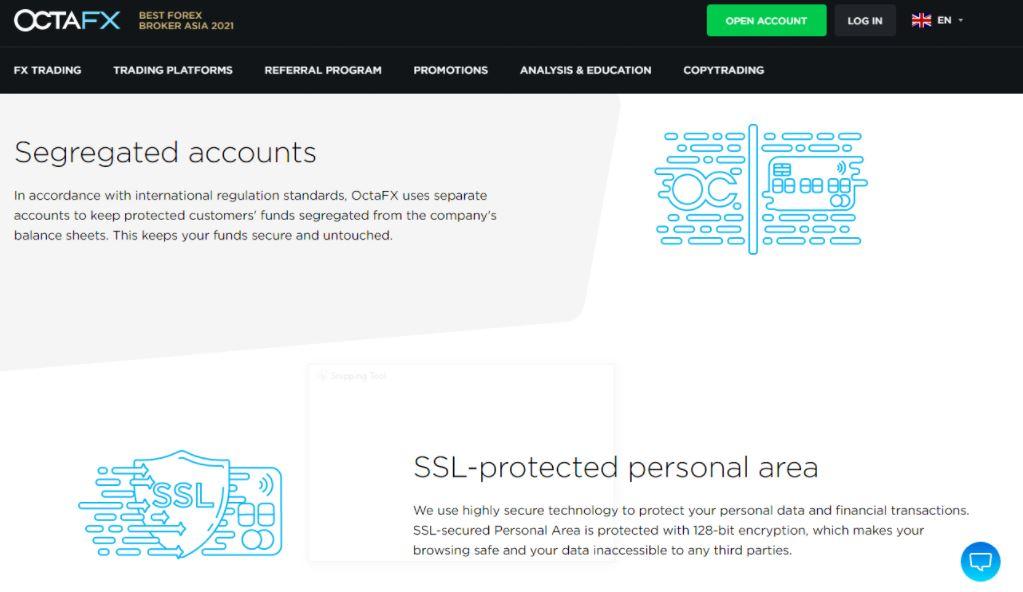Các biện pháp bảo mật OctaFX