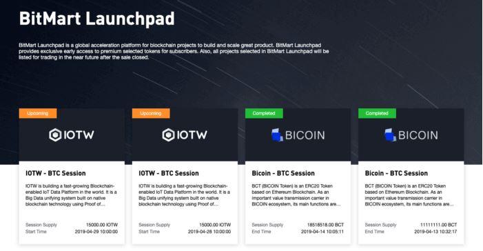 Đánh giá BitMart - BitMart Launchpad