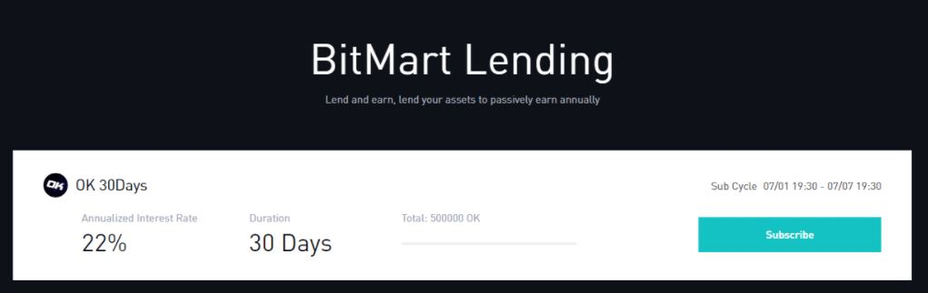 Đánh giá BitMart Exchange - BitMart Lending